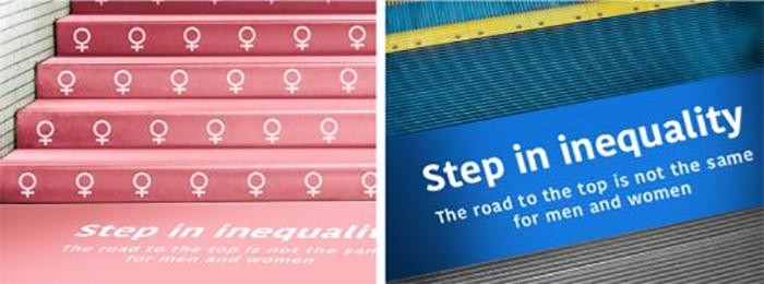 Campaña publicitaria que muestra la Inequidad