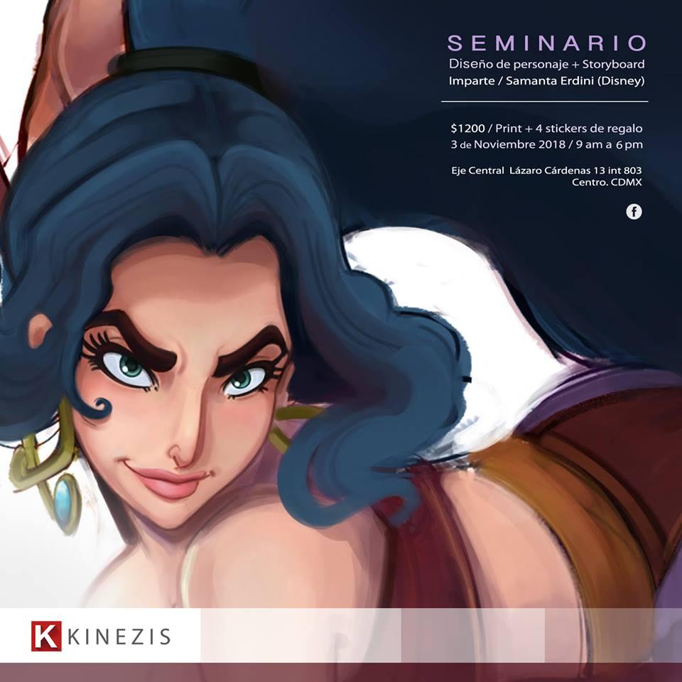 Diseño de personaje y Storyboard con Samanta Erdini