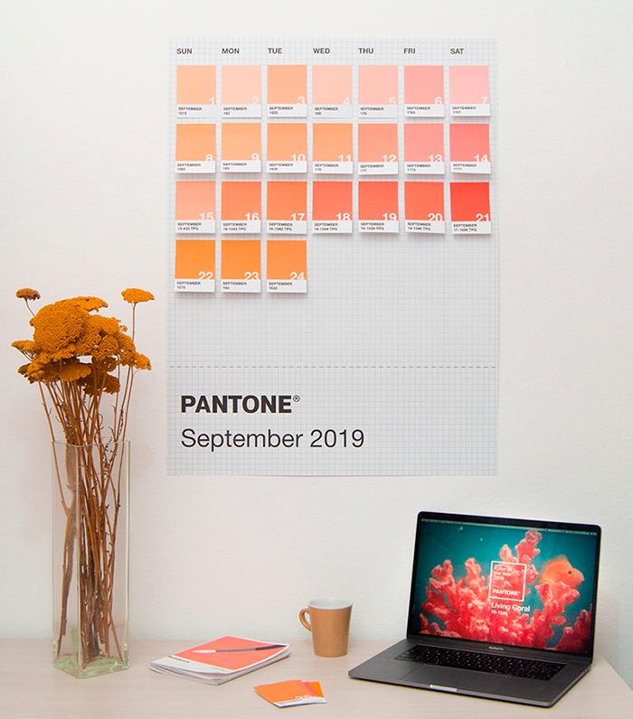 Calendario Pantone 2019